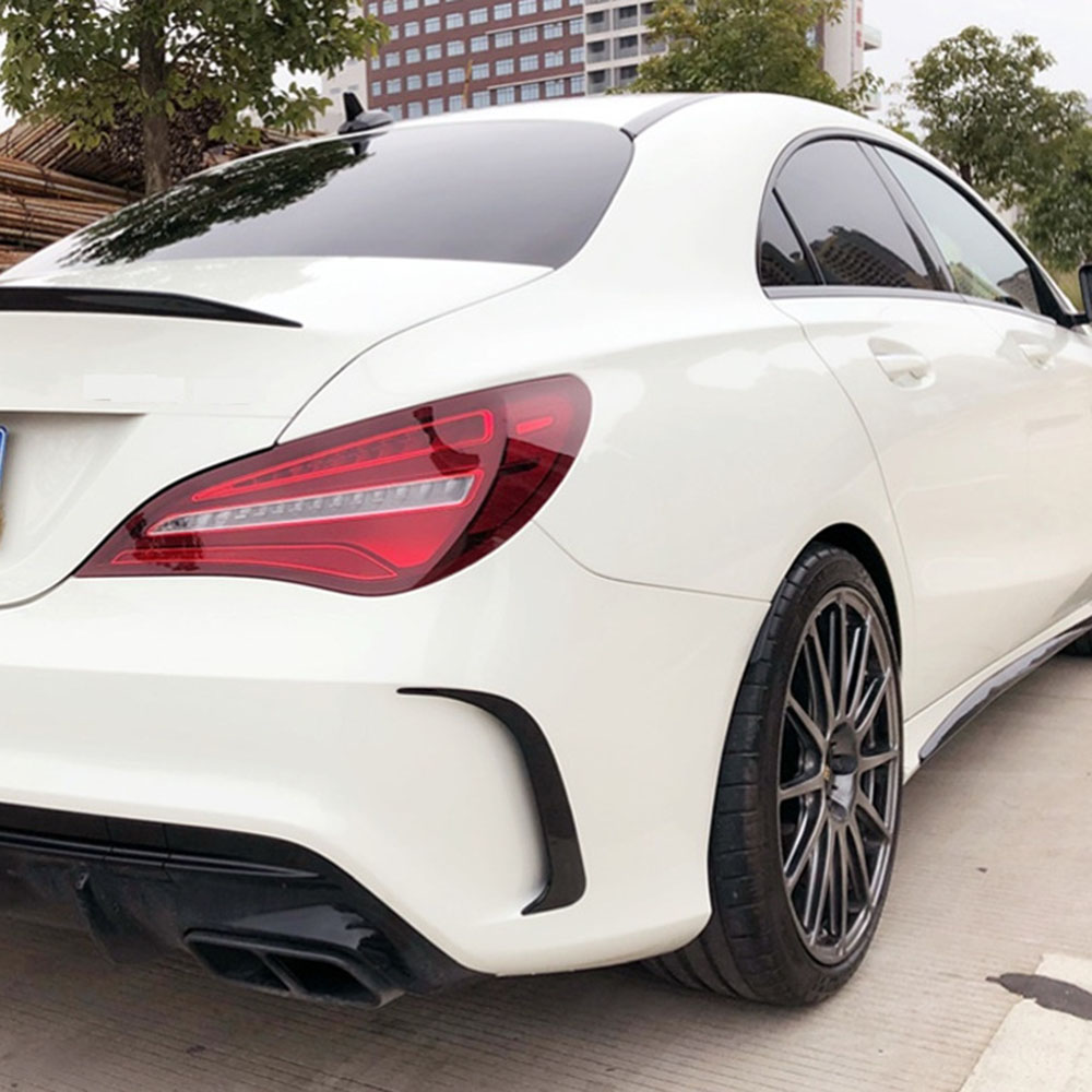 Car Rear Side Body Decals For <font><b>Mercedes</b></font> <font><b>Benz</b></font> <font><b>CLA</b></font> C117 220 260 <font><b>200</b></font> 2017 Vehicle Splitter Spoiler Air Knife Decoration Trim image