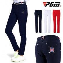 PGM женские брюки для гольфа для похудения; сезон зима-осень; высокие эластичные брюки; тонкие спортивные брюки для отдыха на открытом воздухе; одежда; брюки
