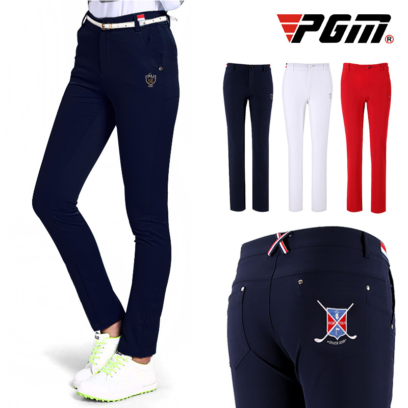 PGM Women Golf Pants Trousers Female Slimming Winter Autumn High Elastic Pants Thin Leisure Outdoor Sports Clothing Wear Pants