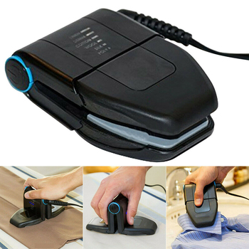 black handheld non stick electric steam mini folding iron portable and travel friendly