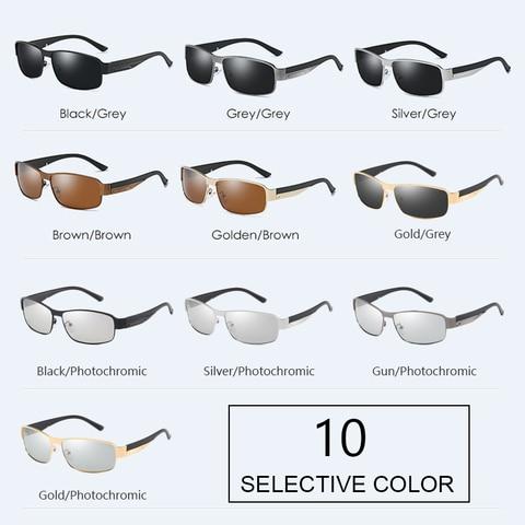SIMPRECT 2019 Photochromic Square Sunglasses Men Polarized UV400 Sun Glasses For Driving Fashion Retro Sunglasses Vintage Oculos Karachi