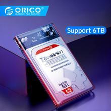 2.5 inch Transparent USB3.0 to Sata 3.0 HDD Case Tool Free 5 Gbps Support 2TB UASP Protocol Hard Drive Enclosure - (2139U3)
