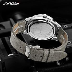 Image 3 - Sinobi חדש אופנה שעון Mens שעונים עם נירוסטה למעלה מותג יוקרה ספורט עמיד למים קוורץ שעון גברים Relogio Masculino