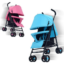 Newborn pram widening ultra light folding can sit or lie umbrella suitable 4 sea