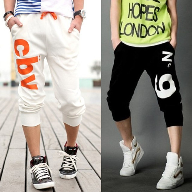 2018 Stall Summer New Style Capri Pants Casual Harem Athletic Pants Men's Korean-style Middle School Students Breeches