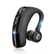 V9 Handsfree Wireless Bluetooth Earphones Voice Control Business Wireless Bluetooth Headset with Mic for Driver Noise Cancelling