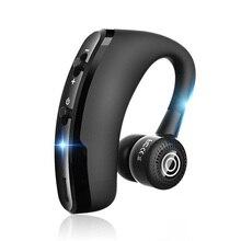 V9 يدوي سماعة لاسلكية تعمل بالبلوتوث سماعات التحكم الصوتي الأعمال سماعة لاسلكية تعمل بالبلوتوث سماعة رأس مزودة بميكروفون لإلغاء الضوضاء السائق