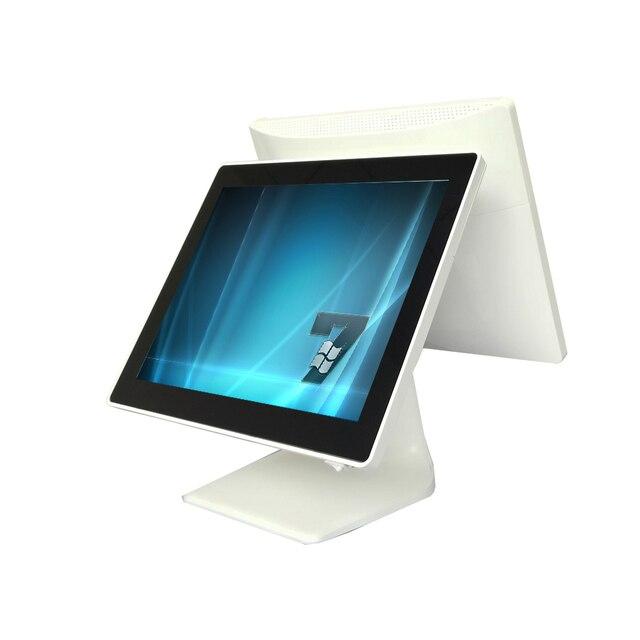 POS tout en un écran tactile EPOS tout en un double écran 15 + 15 pouces POS Terminal PC Point de vente pour la vente au détail 2