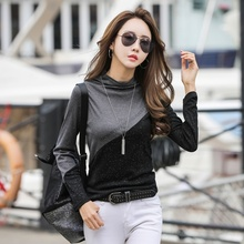T Shirt Women Sequin Long Sleeve T-shirt Female Blusas Femininas 2019 Autumn Tops