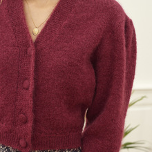 Fit Sweaters Women Cardigan Mohair Front-Button Long-Sleeved New Wool Loose Soft/comfortable