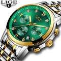 2020 marke LIGE Grün Wasser Geist Luxus herren Uhr Wasserdicht Datum Uhr Herren Uhren Männer Quarz Armbanduhr Relogio Masculino