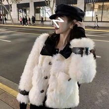 Fur-Coat Short Mink-Hair Integrated-Lamb-Fur Trend Fashion Women's New Youth Thickened