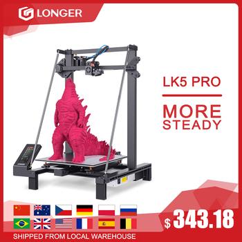 LONGER LK5 Pro FDM drukarka 3D rozmiar drukarki 300*300*400mm Open Source 4 3 #8222 kolorowy ekran dotykowy duży rozmiar wysoka precyzja tanie i dobre opinie LK5 PRO 3D Printer CN (pochodzenie) 1 75mm 60mm s 0 1-0 4mm ENGLISH 120mm s PLA ABS TEPG WOODEN ETC Cura Reptier-Host