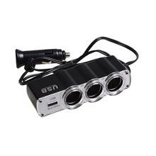 Automotive Accessories USB 3 Port Cigarette Lighter Adapter