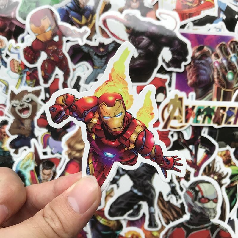 50Pcs/Pack Cartoon Super Hero Avengers Stickers For Luggage Laptop Decal Skateboard Stickers Bike Motorcycle Fridge Sticker Bomb
