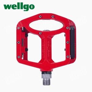 Image 4 - Wellgo pedały MTB 2 uszczelnione łożyska pedały rowerowe do rowerów bmx górski rower szosowy pedały szeroki stop magnezu pedały rowerowe MG 1