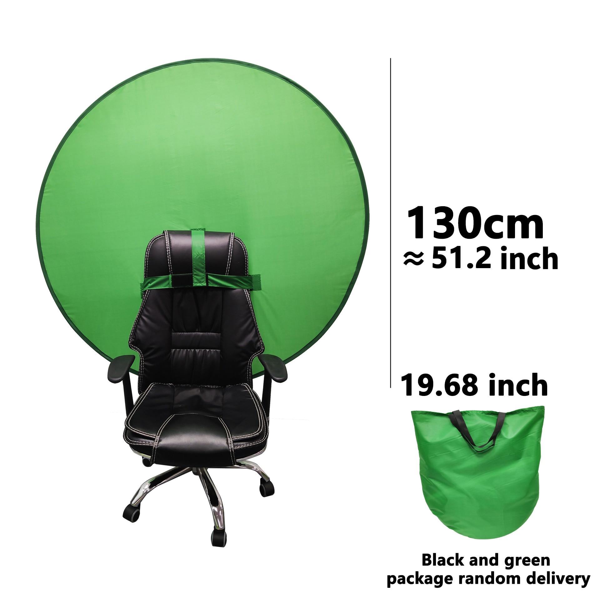 Fond d'écran vert photographie fond Portable pli réflecteur pour diffusion en direct YouTube vidéo Studio rond 142cm 56 pouces