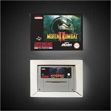 Mortal Kombat II 2 소매 상자가있는 EUR 버전 액션 게임 카드