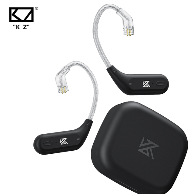 KZ AZ09 Wireless Upgrade Cable Bluetooth-compatible 5.2 HIFI Wireless Ear Hook C PIN Connector With Charging Case 1