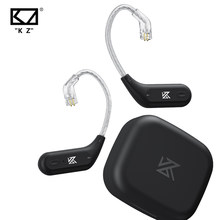 Kz az09 hd bluetooth módulo de atualização sem fio cabo bluetooth 5.2 alta fidelidade sem fio orelha gancho c pino conector com caso carregamento
