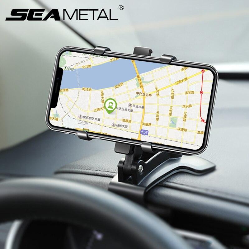 Universal Car Phone Holder Dashboard Cell Phone Car Holder Rear View Mirror Sun Visor Baffle Mobile Phone Mount Clip Car Gadgets