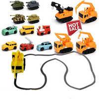 Ligne suivant Robot Induction jouets inductifs éducatifs voiture camion Machine suiveur bricolage véhicule moulé sous pression stylo magique pingouin cochon