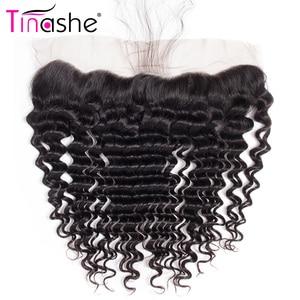 Image 5 - Tinashe 髪でバンドルフロント透明なレースの閉鎖前頭バンドルブラジルカーリー人間の髪のバンドル