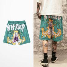 Nouveau mode Hip Hop Shorts hommes haute rue marée marque drôle demi pantalon hommes Streetwear Rock danse rétro Joggers hommes Shorts