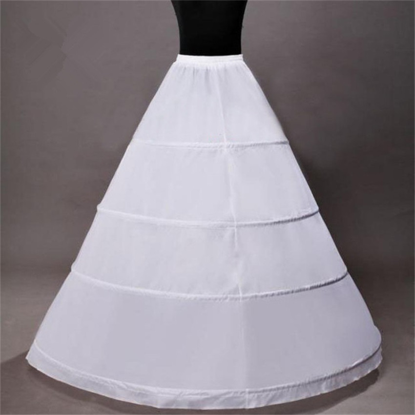 NUOXIFANG Cheap New White Wholesale Wide 4 Hoops Petticoat For Ball Gown Crinoline Underskirt Wedding Accessories Jupon Mariage