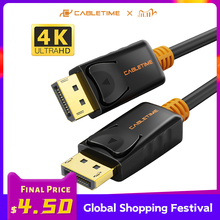 DisplayPort Cable 144Hz Display Port Cable 1.2 4K 60Hz DP Vedio DisplayPort to DisplayPort Cable for HDTV Projector PC C071