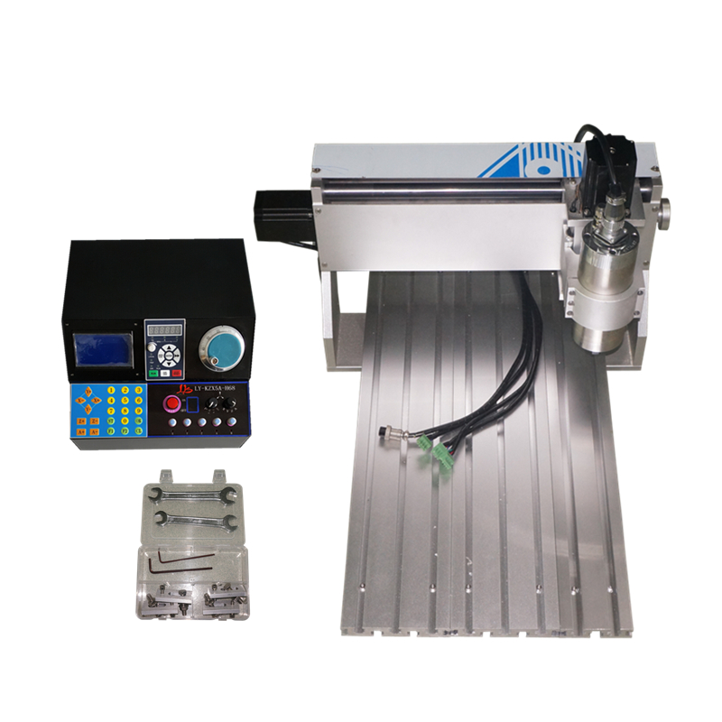 <font><b>60</b></font>*<font><b>40</b></font> 800W <font><b>CNC</b></font> router engraver machine 6040V+H 0.8KW 3 axis 4 axis <font><b>CNC</b></font> Router Engraving Drilling and Milling Machine image