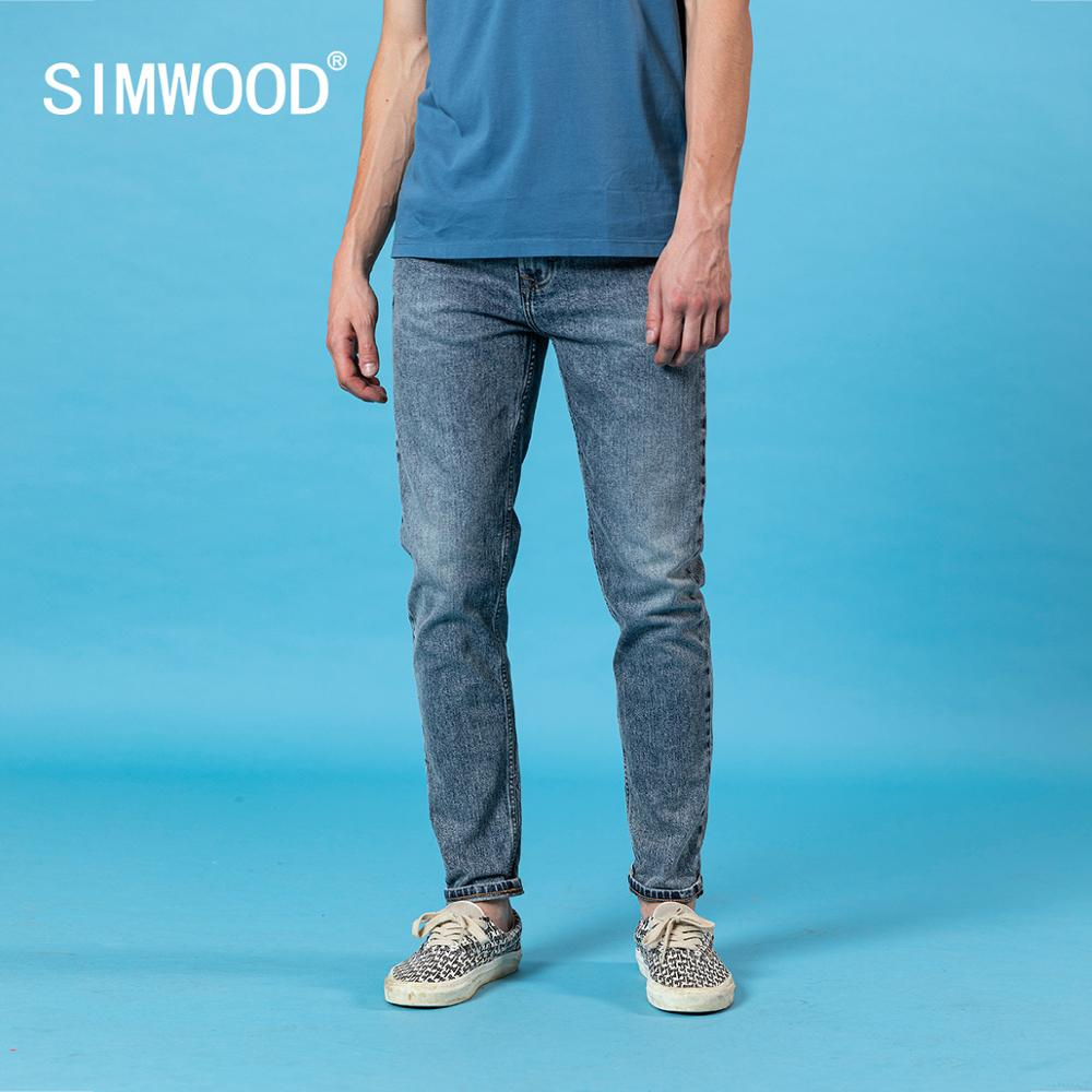 SIMWOOD 2020 Spring Summer New Jeans Men Slim Fit Tapered High Quality Plus Size Denim Trousers Vintage Jean SJ170130