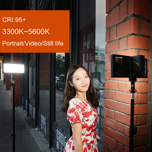 Image 5 - Viltrox L132T Đèn LED Video Siêu Mỏng Màn Hình Hiển Thị LCD Bi Màu Sắc & Mờ DSLR Phòng Thu Ánh Sáng Đèn Với Bảng Điều Khiển máy Quay Phim