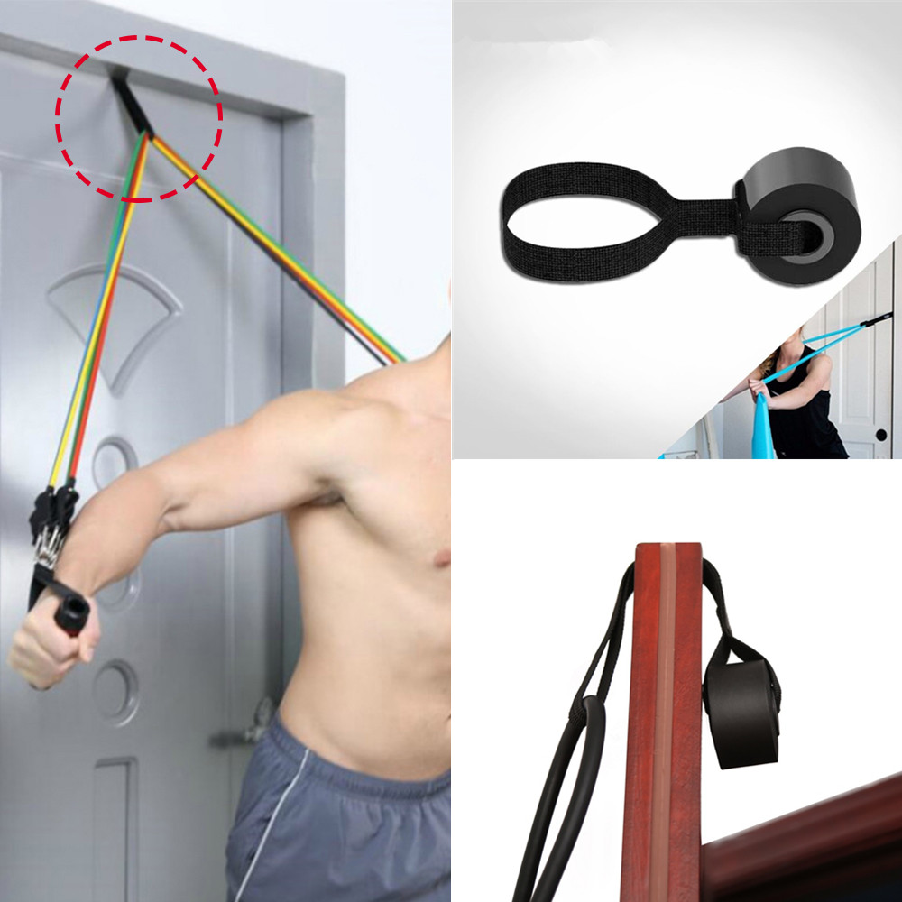 1PCS Resistance Bands Door Anchor Crossfit Elastic Bands For Yoga Pilates Latex Tube Home Fitness Training Straps Equipment