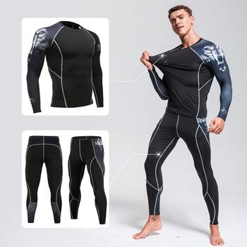 Brand Menswear Thermal underwear Compression Clothing tactical MMA rashgard kit Running tights fitness Training underwear  warm рубашка burton menswear london burton menswear london bu014emaryh0