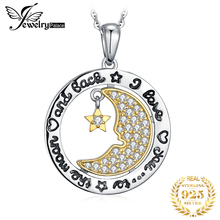JPalace Moon Star Silver Pendant Necklace 925 Sterling Silver Choker Statement Necklace Women Silver 925 Jewelry Without Chain цена