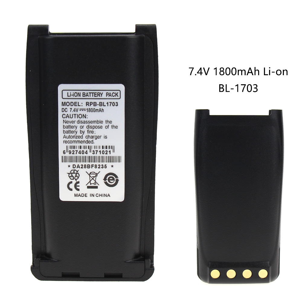 TC700 2-Way Radio Battery (Li-Ion 7.4V 1800mAh) Rechargeable Battery - Replacement For HYT BL1703 Battery