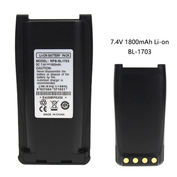 TC700 2-Way Radio Battery (Li-Ion 7.4V 1800mAh) Rechargeable Battery - replacement for HYT BL1703 Battery replacement geb212 battery for leica total station