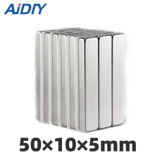 AI DIY 3/5/10 pcs 50x10x5mm neodymium Rectangular Rare Earth Magnetic magnet super powerful Block Square magnets 50*10*5