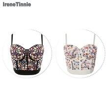 ¡Nuevo! Sujetador de encaje de diamantes de imitación con efecto Push-Up de talla grande para mujer de Irene Tinne