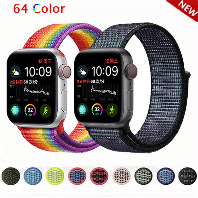 Nylon Pulseira For Apple Watch Band 4 44mm 40mm (iwatch 5) Applewatch 3 2 1 Strap 42mm 38mm Breathable Belt Accessories