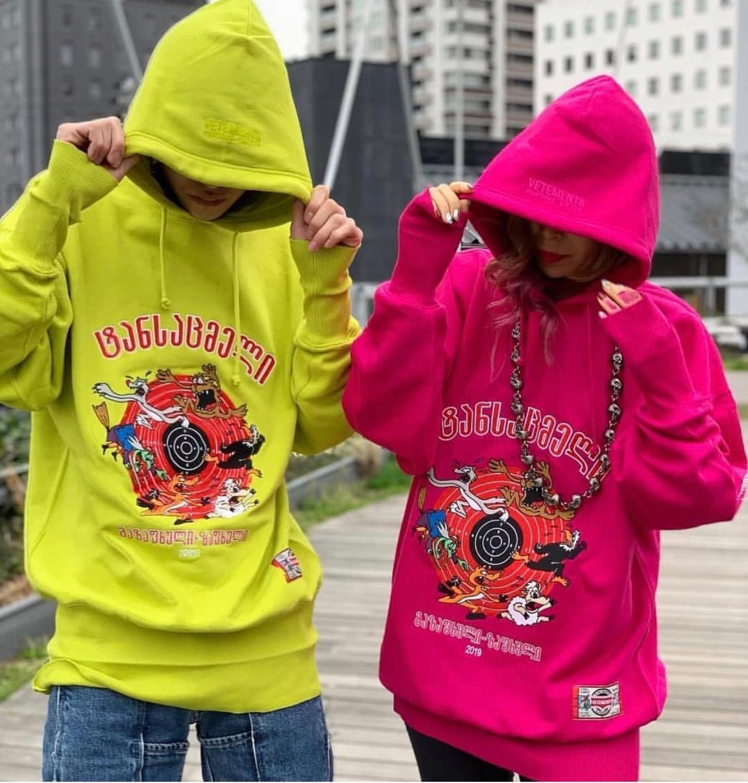 Men Women Hoodies Vetements Hoodie Cartoon Graphic Embroidery Logo Vetements   Sweatshirts Autumn Winter Pullovers