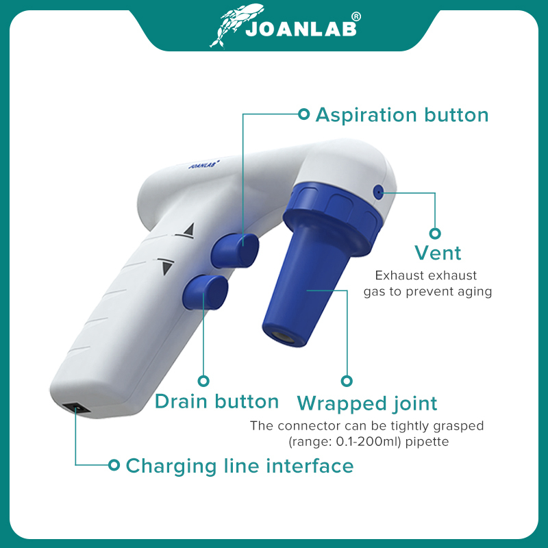 JOANLAB Electric Pipette Controller Large Volume Automatic Pipette Laboratory Equipment Electronic Pipette Pump 110v To 220v 4
