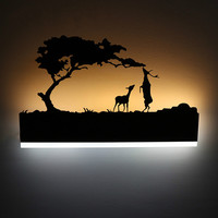 Modern LED Acrylic Wall Lamp Living Room Bedside Cabinet Bedroom Creative Painting Beautiful Wall Lamp Decoration Light