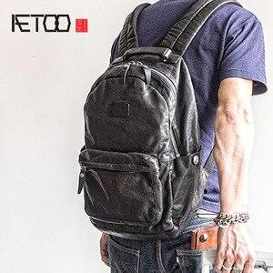 Image 1 - إيتوو حقيبة ظهر عصرية للرجال بطبقات باوتو من الجلد لاتجاه الشارع