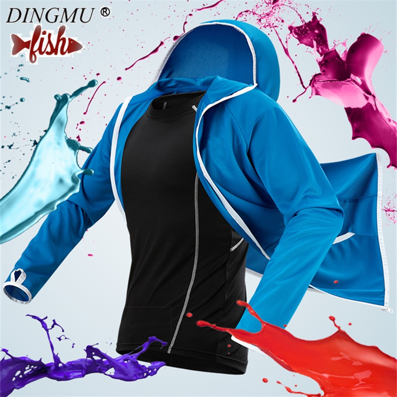 Hot Fishing Men/woman Clothes Tech Hydrophobic Clothing Casual Outdoor Camping Hooded Jackets Ice Silk Waterproof Fishing Clothe