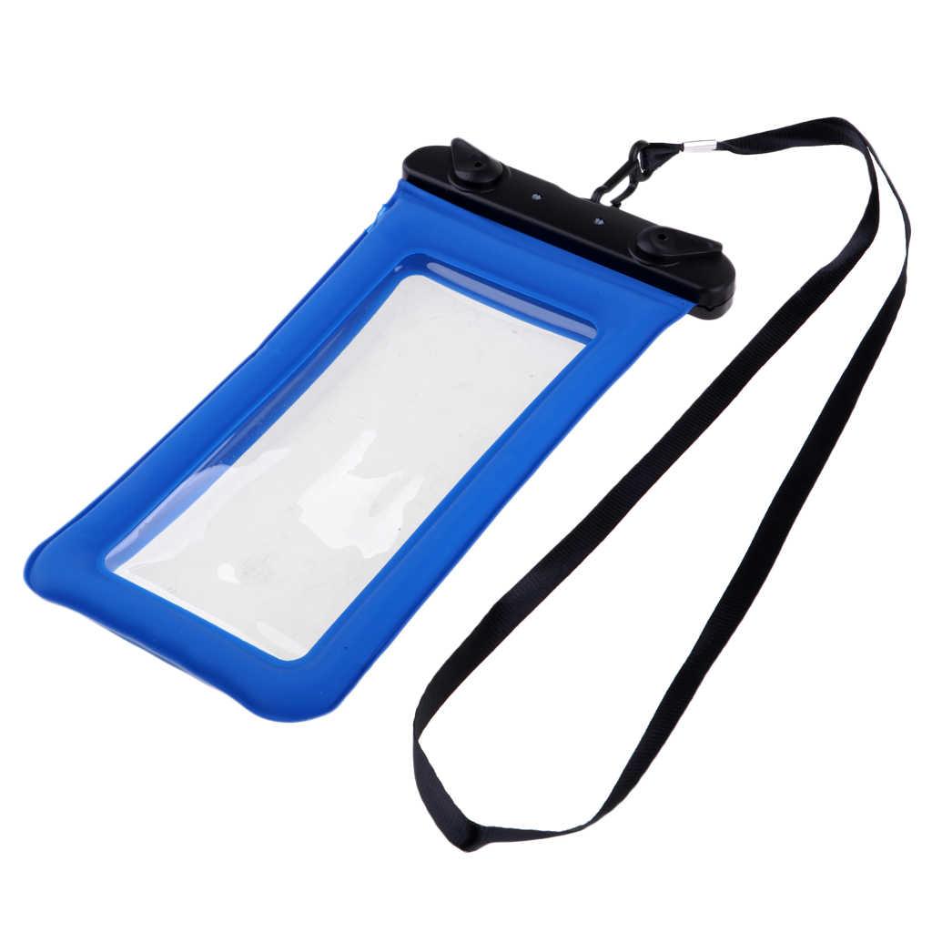 Tahan Air Tas Ponsel Case Kolam Renang Apung Air Bag Desain Leher Tali Universal 6 Inci Ponsel Menyelam Equpment Set