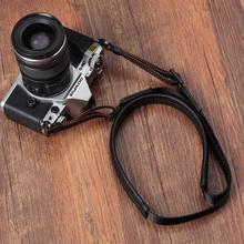 Orijinal hakiki deri + dokuma el yapımı kamera omuz askısı boyun kemeri Canon/Nikon/Sony/Panasonic/ sigma/Olympus Fuji