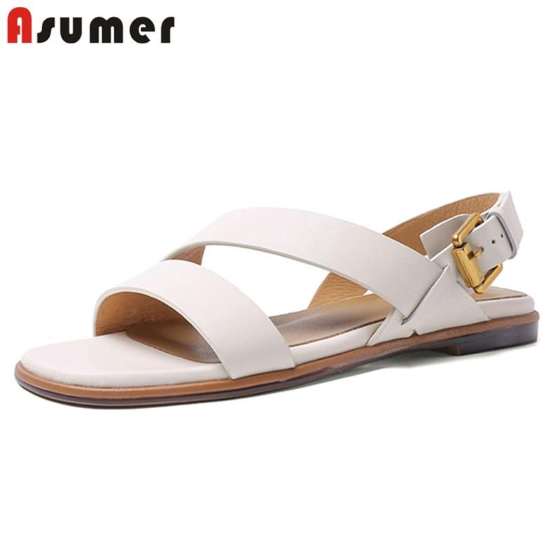 ASUMER 2020 hot sale flat shoes women