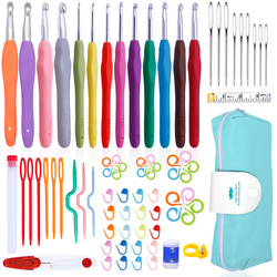 Nonvor Crochet Hooks Needles Stitches Knitting Kit Large Eye Blunt Needles Set Weaving Tools Embroidery Knitting Sewing Tools